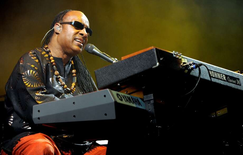 GLASTONBURY, ENGLAND - JUNE 27:  Stevie Wonder performs headlining the Pyramid stage on Day 4 of the Glastonbury Festival at Worthy Farm on June 27, 2010 in Glastonbury, England.  (Photo by Shirlaine Forrest/WireImage) Photo: WireImage