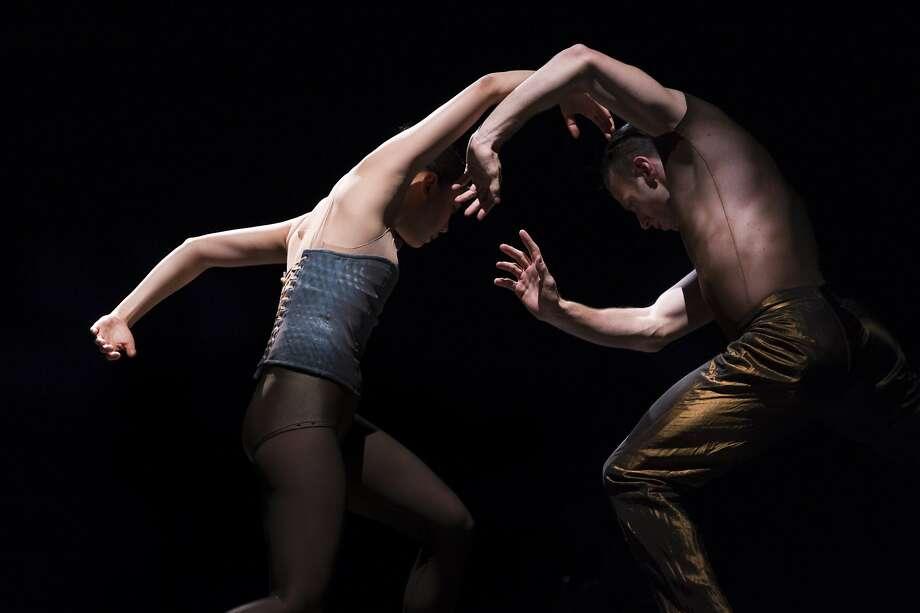 "Jin Young Won (left) and Jason Kittelberger perform in Jirí Kylián's ""Indigo Rose,"" part of Cedar Lake Contemporary Ballet's long-awaited program. Photo: Paula Lobo, Cedar Lake Contemporary  Ballet"