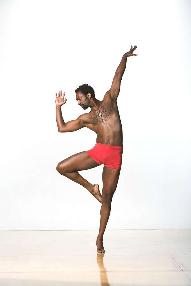 Rising choreographer Antoine Hunter, who is deaf, gives a strong performance at the festival. Photo: Matt Haber., Photo Courtesy The Ethnic Dance