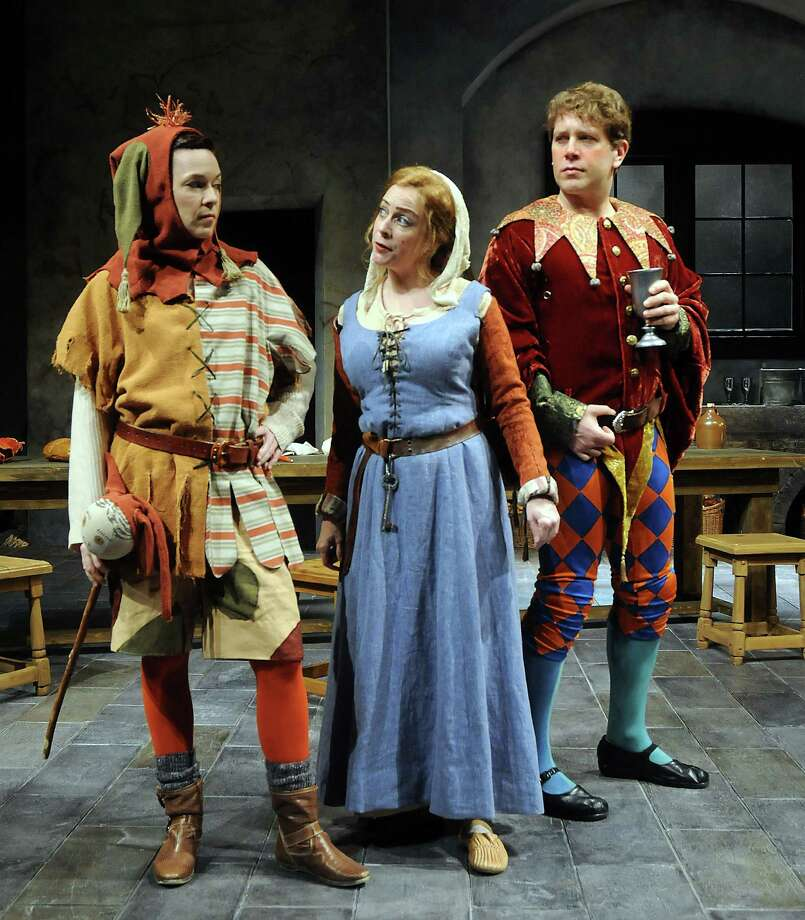 "Elizabeth Bunch, from left, as Joss, Carine Montbertrand as Lizabeth and Jeremy Webb as Stuart are well cast in ""Fool."" Photo: Dave Rossman, Freelance / Freelance"