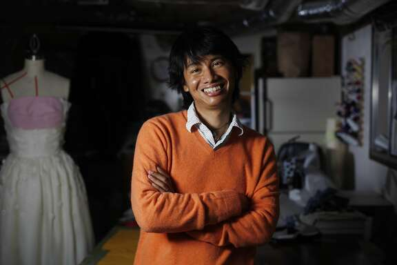 City College of San Francisco student Sam Shan poses for a portrait in his basement studio on Friday, February 7, 2014 in San Francisco, Calif.