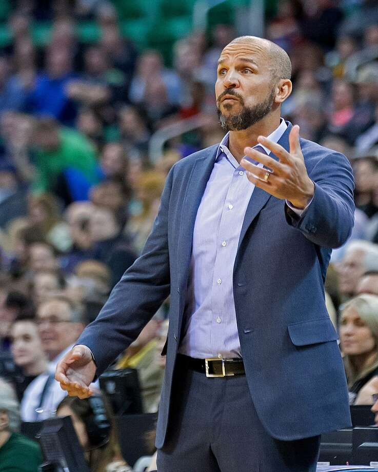 Jason Kidd has talked with Mark Jackson during a down-and-up first season coaching. Photo: Russell Isabella, Reuters