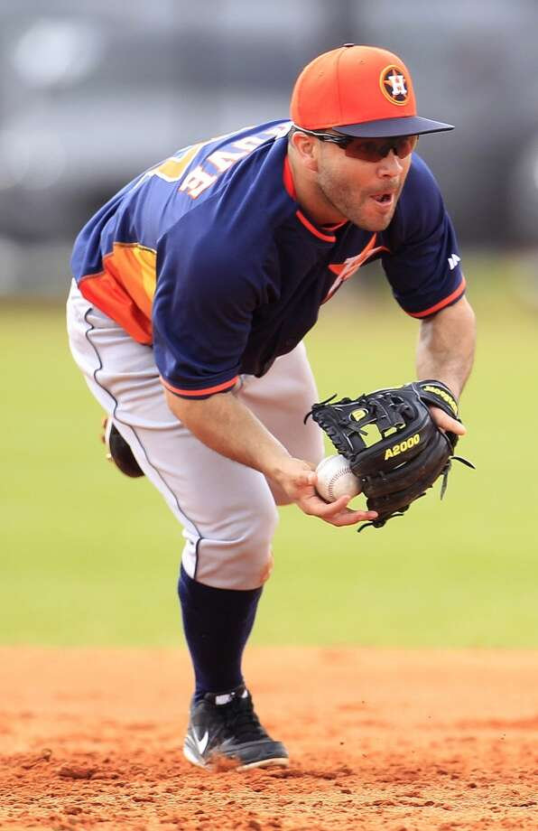 Astros second baseman Jose Altuve during spring training workouts. Photo: Karen Warren, Houston Chronicle