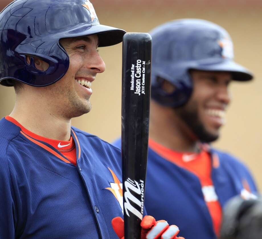 Astros catcher Jason Castro during spring training workouts. Photo: Karen Warren, Houston Chronicle