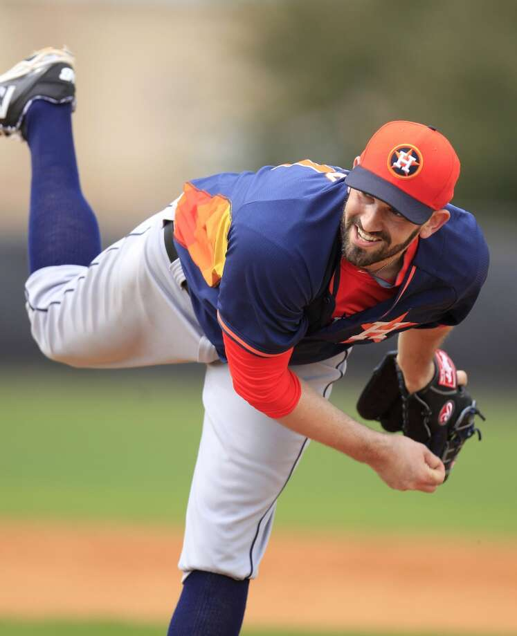 Astros pitcher Josh Zeid during spring training workouts. Photo: Karen Warren, Houston Chronicle