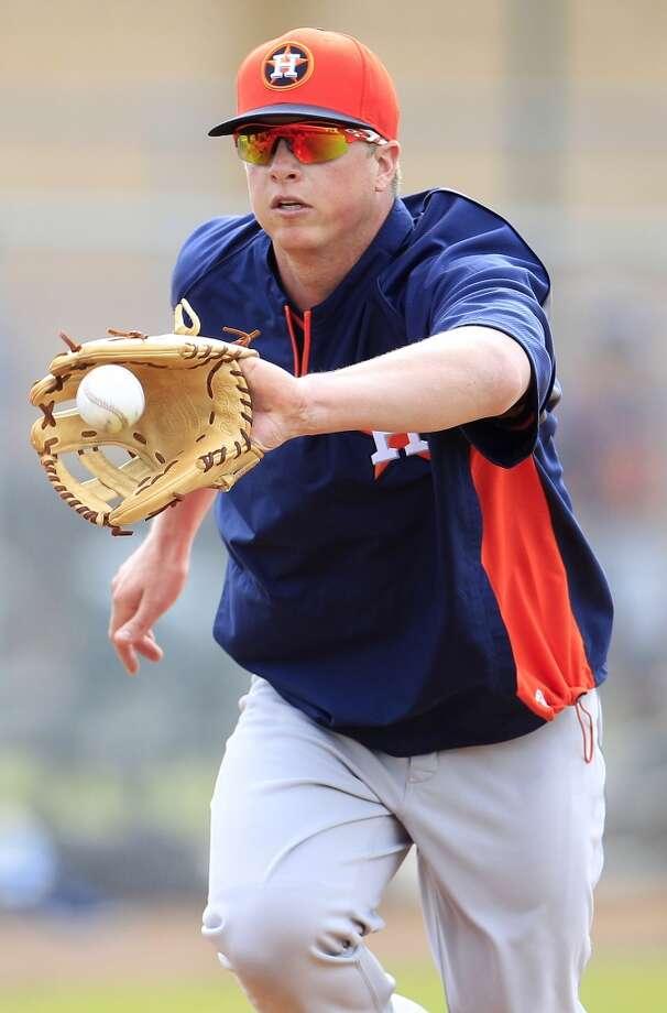 Astros third baseman Matt Dominguez during spring training workouts. Photo: Karen Warren, Houston Chronicle