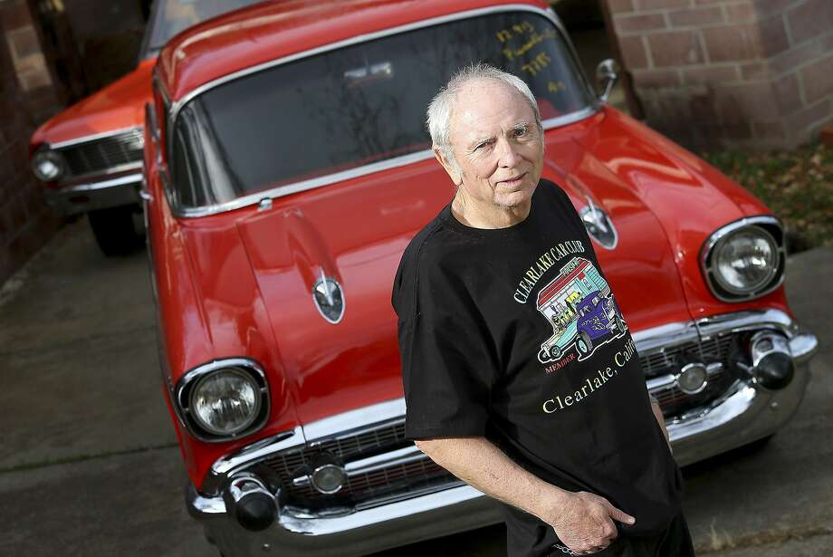 Skip Wilson stands in front of his 1957 Chevrolet Bel Air, stolen in 1984 and returned to him Monday by the Highway Patrol. Photo: Christopher Chung, Associated Press