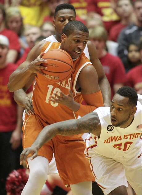 Not one for many words, Texas forward Jonathan Holmes is creating a lot of noise with his play. Photo: Justin Hayworth, FRE / FR170760 AP