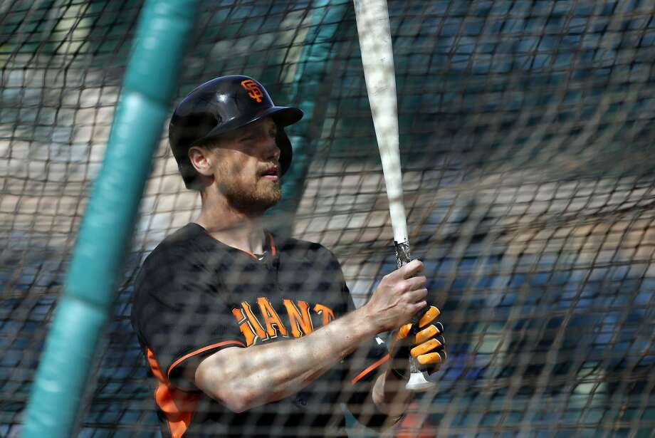 "Outfielder Hunter Pence, who says he wants to be ""strong and light,"" goes by how he feels with no need to step on a scale. Photo: Michael Macor, The Chronicle"