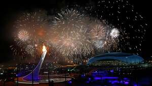 Opening ceremony of the Sochi Winter Olympic games.