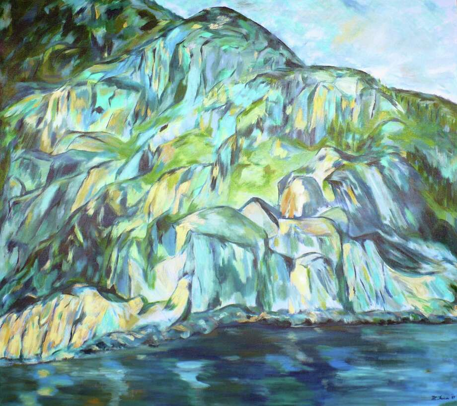 """Cap Trinite"" by Greenwich painter Maria Friscia is on view in her solo exhibition, ""Spotlight on Nature,"" at Les Beaux Arts Gallery in Greenwich through March 20. Photo: Contributed Photo / Connecticut Post Contributed"