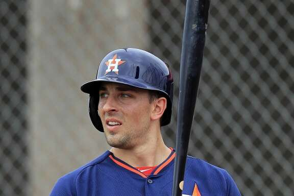 Astros catcher Jason Castro during a spring training workout.