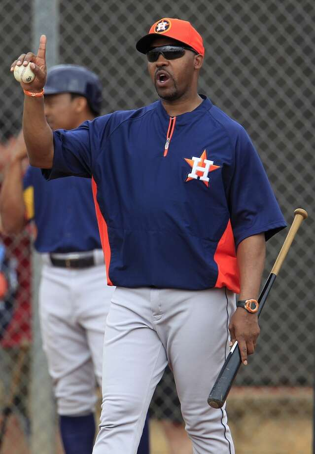 Astros manager Bo Porter during a spring training workout. Photo: Karen Warren, Houston Chronicle