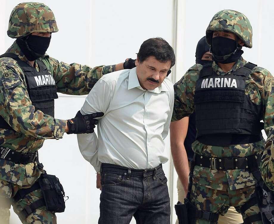 """Mexican drug trafficker Joaquin Guzman """"el Chapo"""" Loera was arrested early Saturday in northern Mexico. Photo: Alfredo Estrella, AFP/Getty Images / ALFREDO ESTRELLA"""