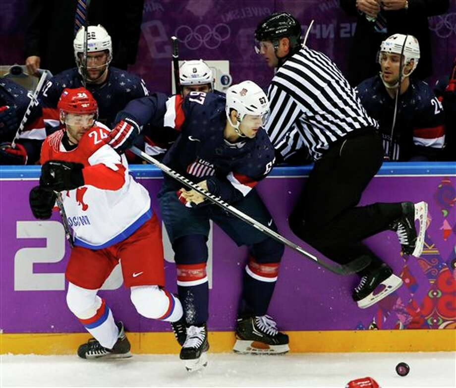 Pacioretty (#67) was one of three players from SW Connecticut on the men's Olympic hockey team. He employed his trademark aggressive style of play and helped the U.S. move into the semifinals against Canada.