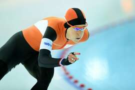 Netherlands' Irene Wust competes in the Women's Speed Skating 1500 m at the Adler Arena during the Sochi Winter Olympics on February 16, 2014.   AFP PHOTO / JUNG YEON-JEJUNG YEON-JE/AFP/Getty Images