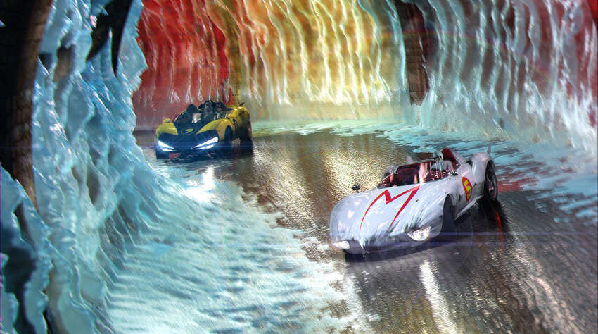Cost: $200 million Revenue: $94 million Total adjusted net loss: $113.1 million Speed Racer (Emile Hirsch) and Racer X (Matthew Fox) battle it out in