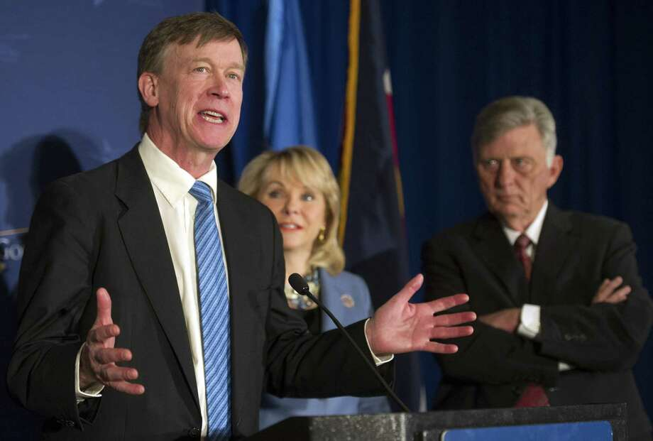 Colorado Gov. John Hickenlooper says he is advising fellow governors this weekend to wait before moving to legalize recreational marijuana use. Photo: Cliff Owen, FRE / FR170079 AP