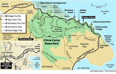 china camp state park map State Park In San Pablo Offers Bay Views Mountain Biking Sfgate china camp state park map