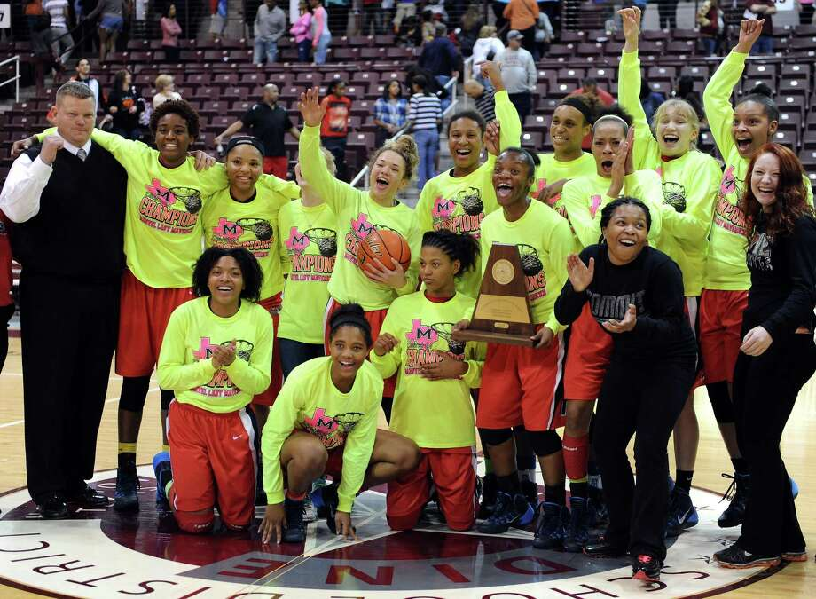Manvel 58, Cy Woods 42The Manvel Lady Mavericks celebrate their 58-42 victory over Cy-Woods  in the Class 5A Region 3 Final girls high school basketball game, Saturday, February 22, 2014, at Campbell Center in Houston. Photo: Eric Christian Smith, For The Chronicle