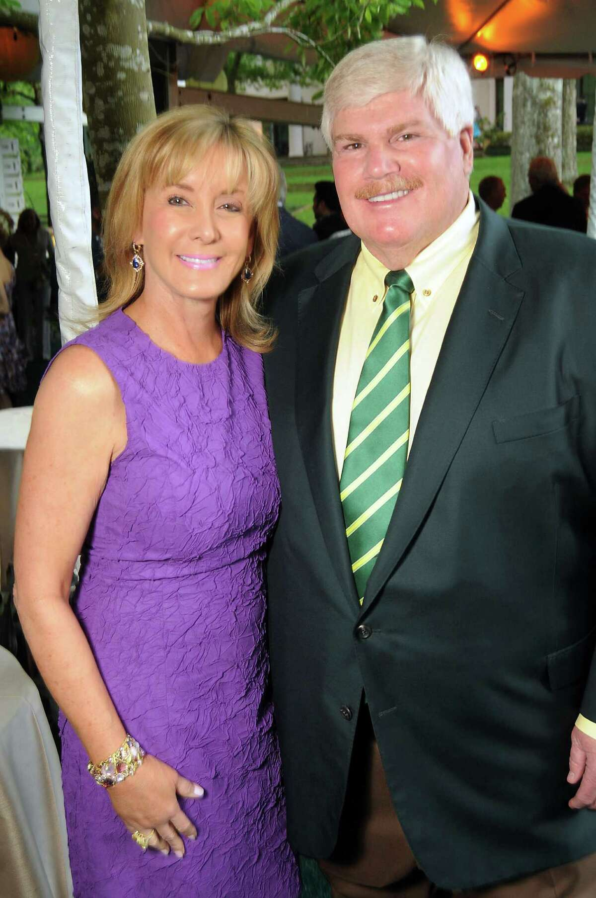 Sheridan and John Eddie Williams at the annual Bayou Bend Garden Party Sunday April 7, 2013.(Dave Rossman photo)