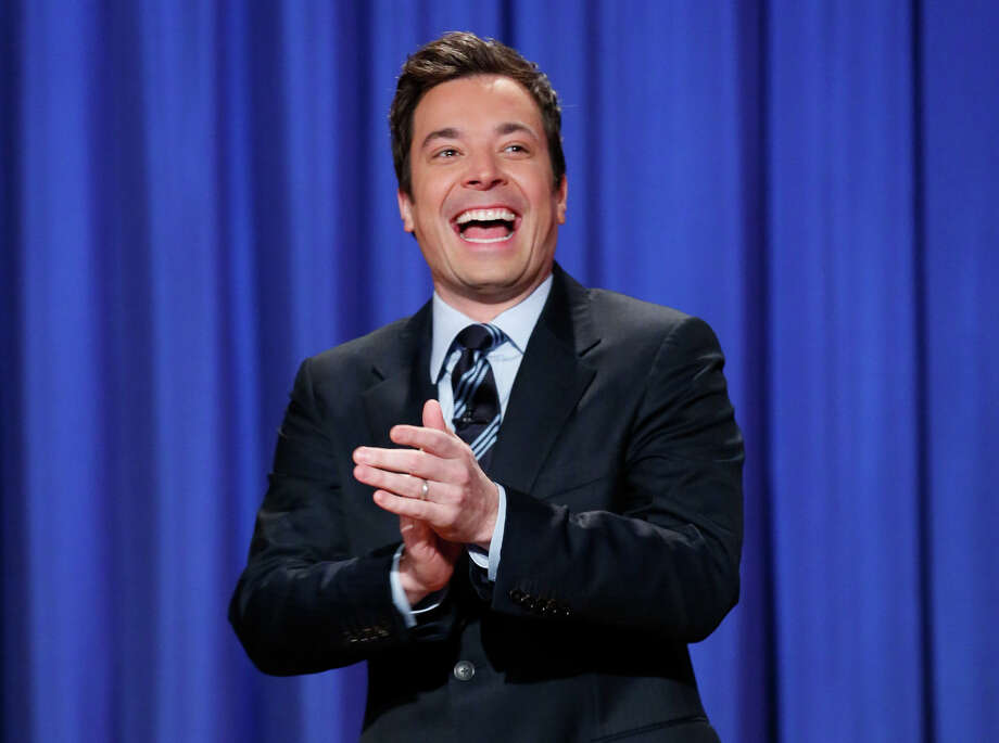 """FILE - This April 4, 2013 file photo released by NBC shows Jimmy Fallon, host of """"Late Night with Jimmy Fallon,"""" in New York.  Fallon will debut as host of his new show, """"The Tonight Show with Jimmy Fallon,"""" on Feb. 17. (AP Photo/NBC, Lloyd Bishop, File) Photo: Lloyd Bishop, HOEP / NBC"""
