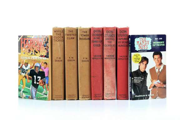 These original Hardy Boys and Don Sturdy books were a gift from a neighbor when Joe Holley was a boy, and remain a treasured part of his home library.