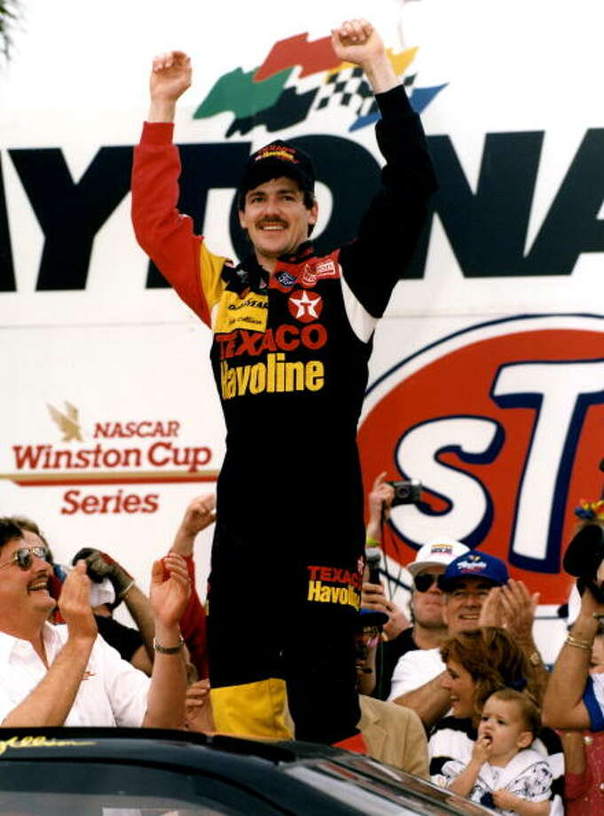 1992:  Davey Allison Driving a Ford Starting position: 6  Photo: Dozier Mobley, Getty Images / 1992 Dozier Mobley