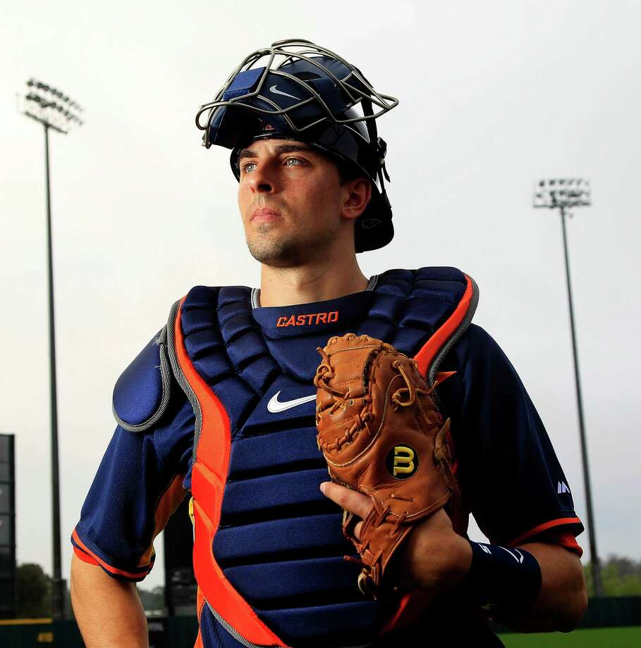 Houston Astros catcher Jason Castro (15) photographed outside of the Houston Astros spring training clubhouse at the Osceola County Stadium, Friday, Feb. 21, 2014.  ( Karen Warren / Houston Chronicle ) Photo: Karen Warren, Staff / © 2013 Houston Chronicle