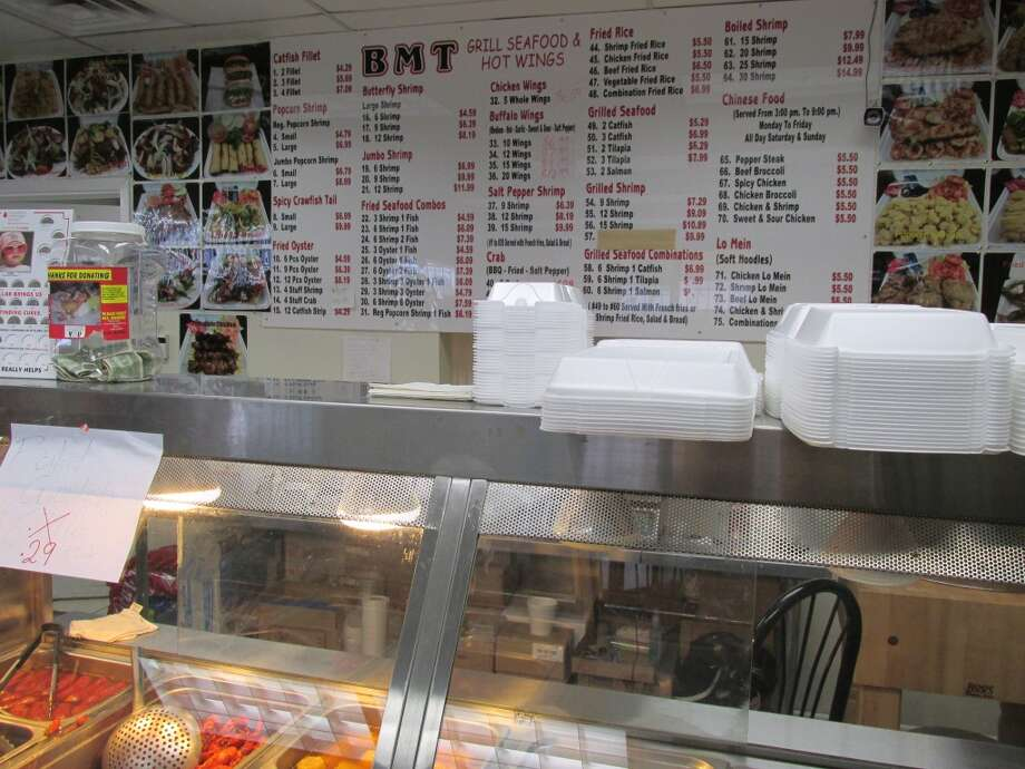 BMT Grill on 11th Street is a combination seafood restaurant and Vietnamese grocery store, complete with seafood, meat and produce sections and various international treats. Photo: Cat5
