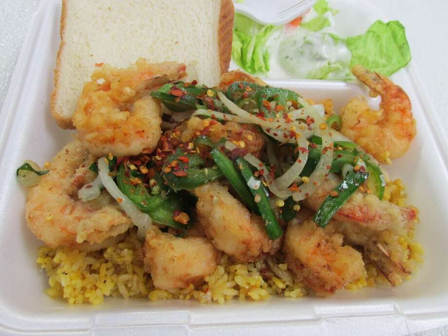 The salt and pepper shrimp meal at BMT Grill. Photo: Cat5