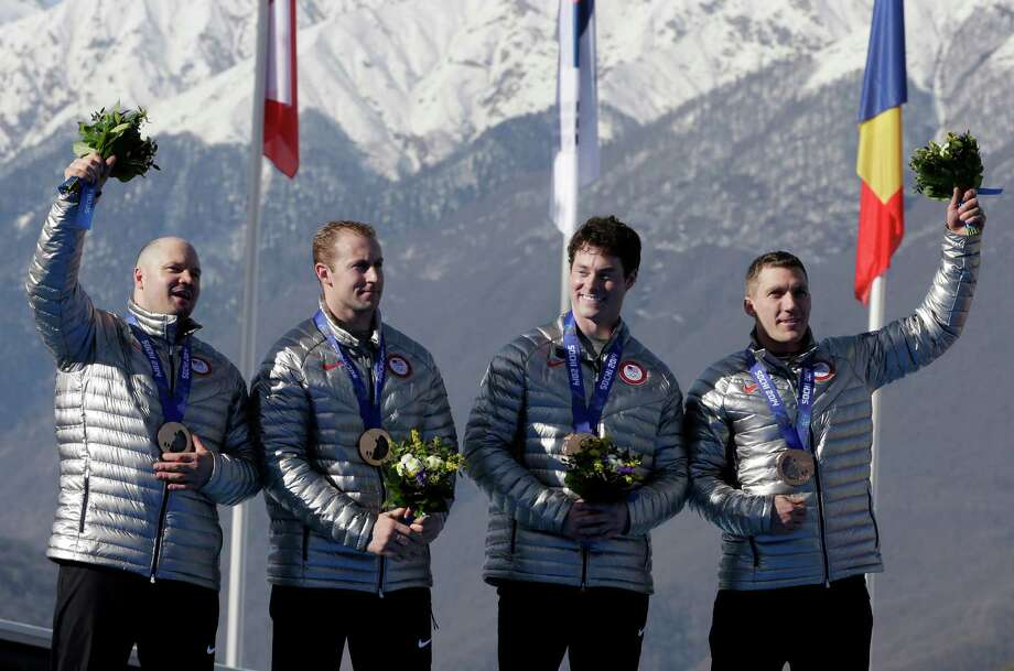 Team USA won bronze in the four-man bobsled on the final day of the games in Sochi. Click through this slideshow to see the rest of the American medalists.The team from the United States USA-1, with Steven Holcomb, Curtis Tomasevicz, Steven Langton and Christopher FogtMedal: BronzeDiscipline: BobsledEvent: Four-man bobsled Photo: Michael Sohn, AP / AP