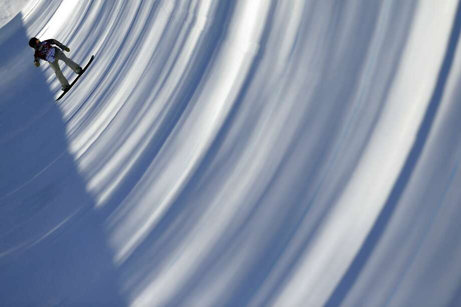 Kelly Clark of the United States trains for the women's snowboard halfpipe competition at the 2014 Winter Olympics, Saturday, Feb. 8, 2014, in Krasnaya Polyana, Russia.  Photo: Jae C. Hong, Associated Press