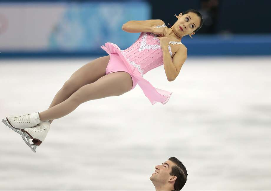 Felicia Zhang and Nathan Bartholomay of the United States compete in the pairs short program figure skating competition at the Iceberg Skating Palace during the 2014 Winter Olympics, Tuesday, Feb. 11, 2014, in Sochi, Russia.  Photo: Ivan Sekretarev, Associated Press