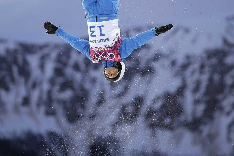 Alla Tsuper, of Belarus, competes during the women's freestyle skiing aerials qualifying at the Rosa Khutor Extreme Park, at the 2014 Winter Olympics, Friday, Feb. 14, 2014, in Krasnaya Polyana, Russia. Photo: Jae C. Hong, Associated Press