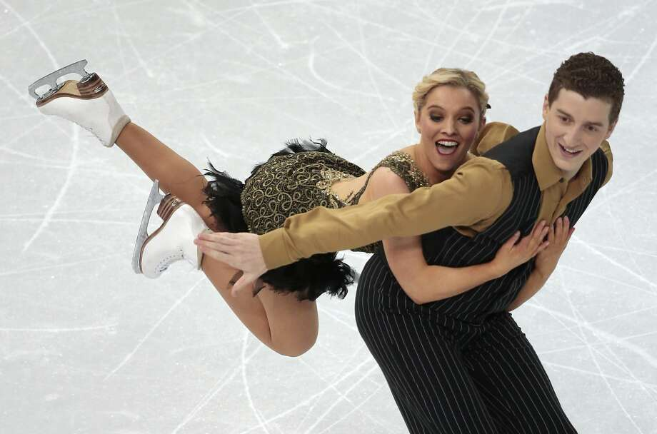 Danielle O'Brien and Gregory Merriman of Australia compete in the ice dance short dance figure skating competition at the Iceberg Skating Palace during the 2014 Winter Olympics, Sunday, Feb. 16, 2014, in Sochi, Russia.  Photo: Ivan Sekretarev, Associated Press