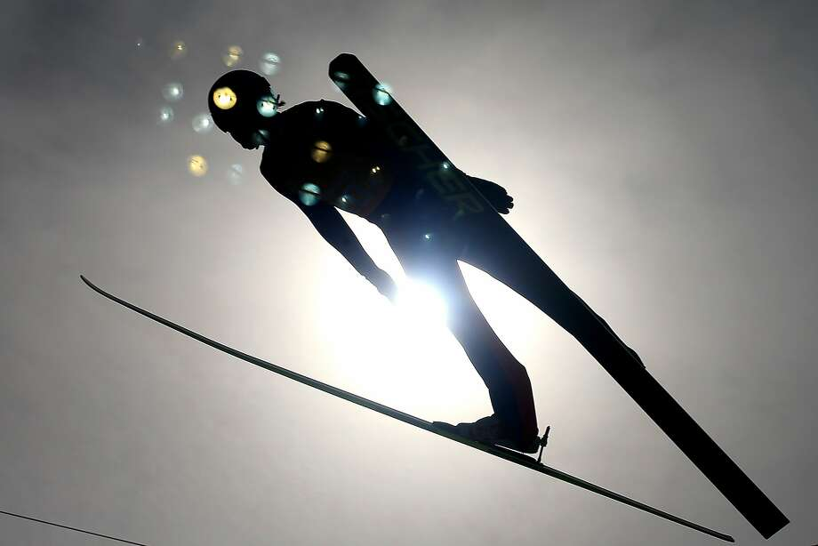 Haavard Klemetsen of Norway competes in the Nordic Combined Men's Team LH during day 13 of the Sochi 2014 Winter Olympics at RusSki Gorki Jumping Center on February 20, 2014 in Sochi, Russia. Photo: Richard Heathcote, Getty Images