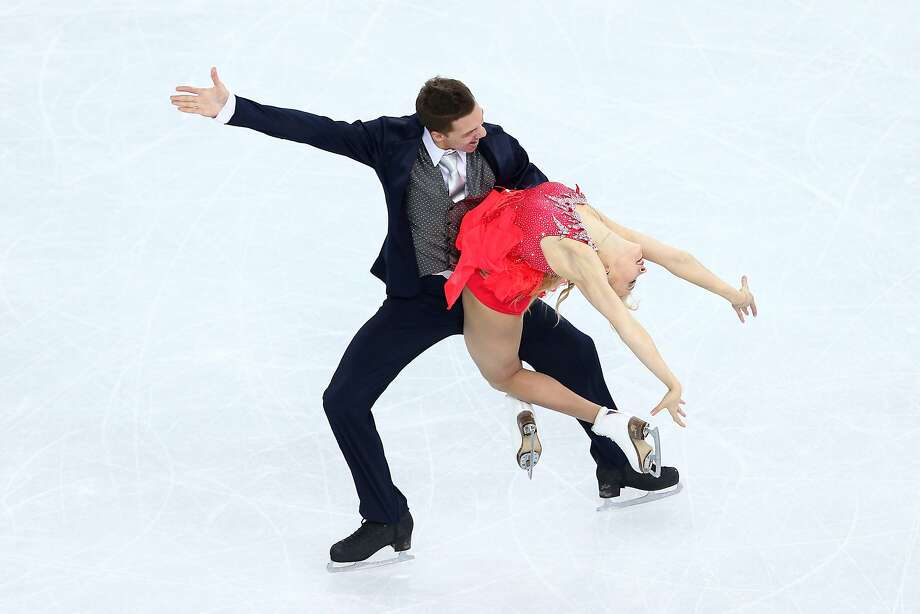 Ekaterina Bobrova and Dmitri Soloviev of Russia compete during the Figure Skating Ice Dance Short Dance on day 9 of the Sochi 2014 Winter Olympics at Iceberg Skating Palace on February 16, 2014 in Sochi, Russia.  Photo: Paul Gilham, Getty Images