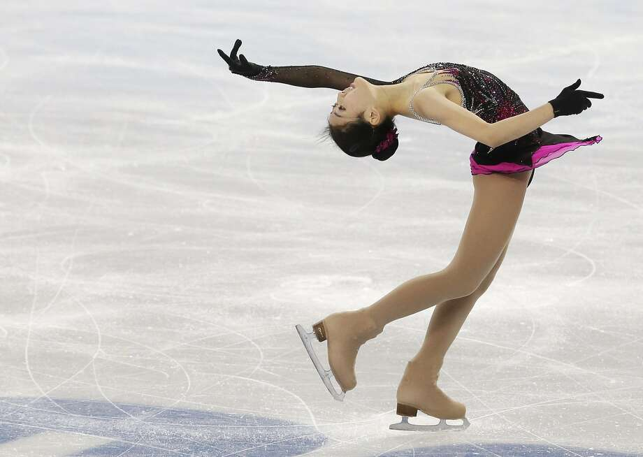 Li Zijun of China competes in the women's short program figure skating competition at the Iceberg Skating Palace during the 2014 Winter Olympics, Wednesday, Feb. 19, 2014, in Sochi, Russia. (AP Photo/Darron Cummings) Photo: Darron Cummings, Associated Press