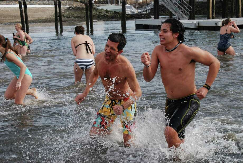 Were you SEEN at the Polar Bear Plunge to benefit Family Centers in Stamford on Sunday? Photo: BarkeyPowell/Hearst Connecticut Media Group