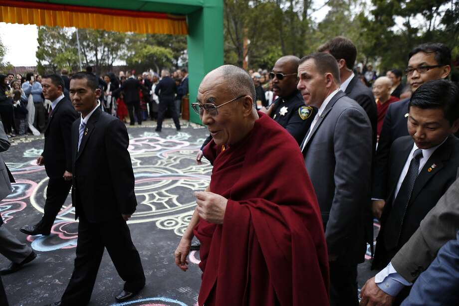 His Holiness the Dalai Lama arrives at the Tibetan Association of Northern California on Sunday. The TANC hosted His Holiness the 14th Dalai Lama as hundreds of members of the Tibetan community gathered to see their spiritual leader on Sunday, February 23, 2014, in Richmond, Calif. His Holiness met with Bay Area Tibetans and consecrated the prayer hall in the TANC. Photo: Carlos Avila Gonzalez, The Chronicle