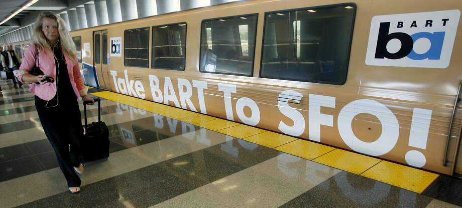 BART's extension to San Francisco International Airport, begun in 2004, is a hit, but plans for a celebration have fizzled. Photo: Paul Chinn, SFC