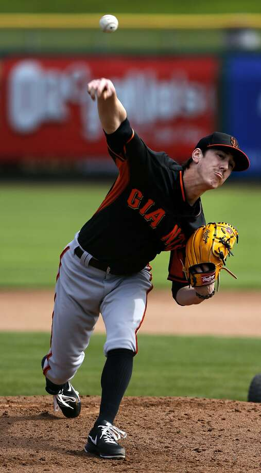 The Giants' Tim Lincecum, the A's Jarrod Parker and former Giants and A's starter Barry Zito have had dramatically different styles and careers, but only Parker - who has the most conventional form of the three - had to undergo Tommy John surgery. Photo: Michael Macor, The Chronicle