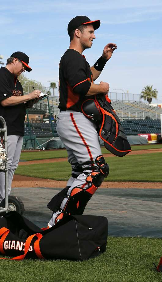 Buster Posey said he thinks Barry Bonds might have some sage hitting advice. Photo: Michael Macor, The Chronicle
