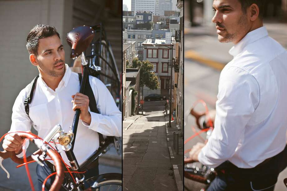 Parker Dusseau's line of bike-friendly suits and shirts. Photo: Parker Dusseau