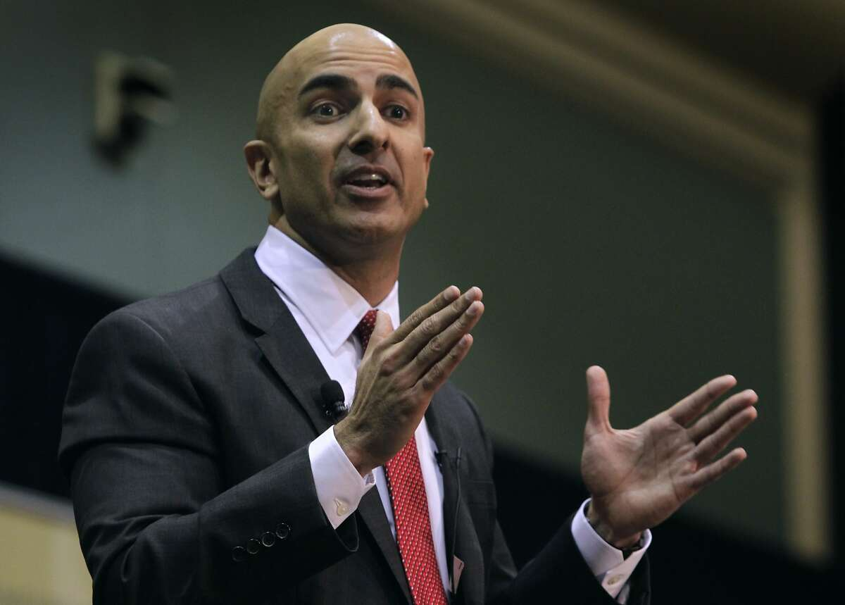 Former Assistant Treasury Secretary Neel Kashkari announces his Republican candidacy for the California governor's office during a meeting of local business leaders in Sacramento, Calif. on Tuesday, Jan. 22, 2014.