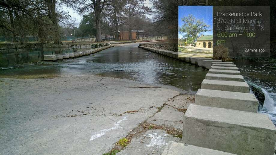 Low Water Crossing Bridge in Brackenridge Park