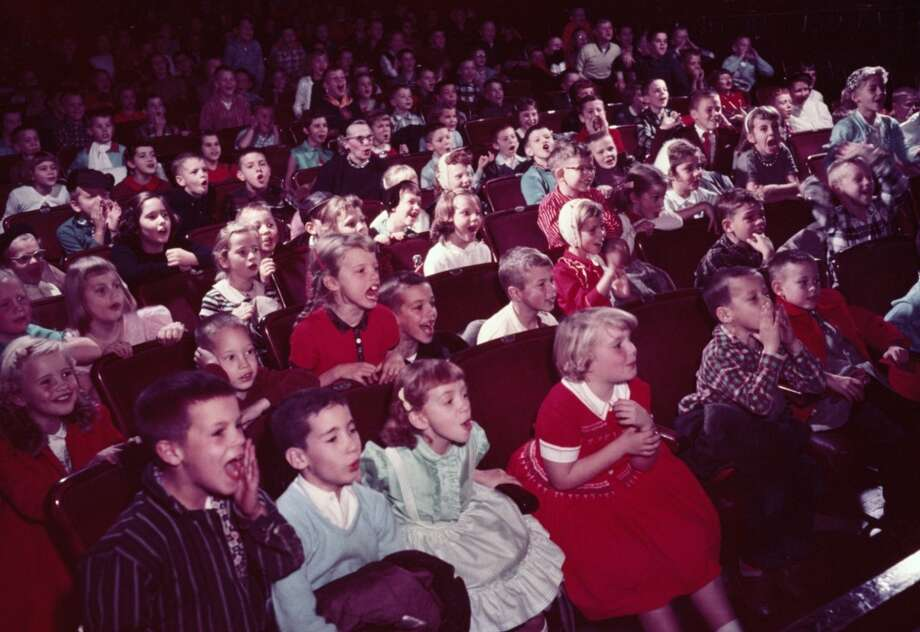 Going to a movie that's supposed to be funny and worrying the right crowd might not be there … We love a noisy theater for the right movies and, you know, the audience laughs at the right jokes. Photo: Petrified Collection, Getty Images
