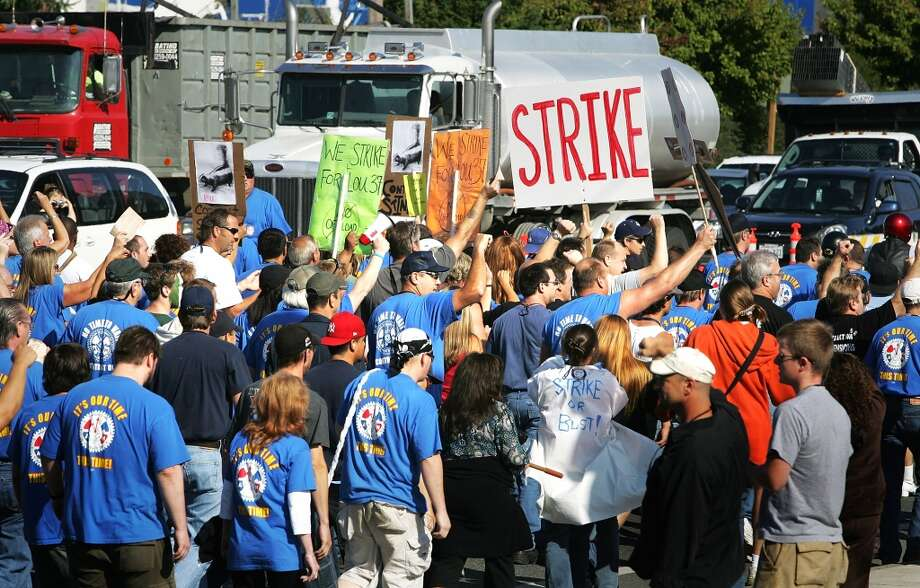 Watching unions playing chicken with Boeing management. Photo: Robert Giroux, Getty Images