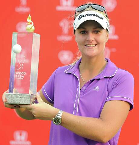 Sweden's Anna Nordqvist won her first tournament in five years after outlasting top-ranked Inbee Park in the final round of the LPGA Thailand event Sunday. Photo: Thananuwat Srirasant / Getty Images / 2014 Getty Images
